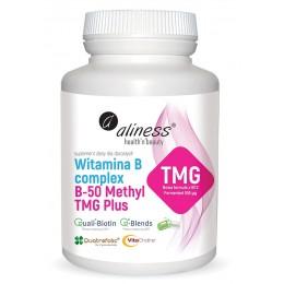 Witamina B-50  Methyl TMG PLUS 100 kaps. Aliness metylokobalamina fermented Trimetyloglicyna TMG