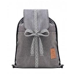 Pojemny, praktyczny i kompaktowy worek Plecak DżINS szary