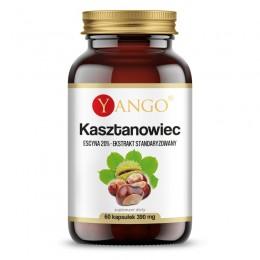 Główną substancją czynną wyciągu z nasion kasztanowca jest escyna, będąca mieszaniną saponin