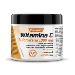 Witamina C buforowana 1000mg 240g PharmoVit Kwas L-askorbinowy L-askorbinian sodu magnezu potasu