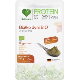 Białko dyni BIO w proszku 200g BeOrganic fosfor magnez żelazo mangan cynk blonnik pokarmowy