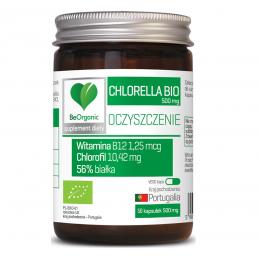 Chlorella bio 500mg 50 kaps witamina B12 chlorofil białka BeOrganic Medicaline
