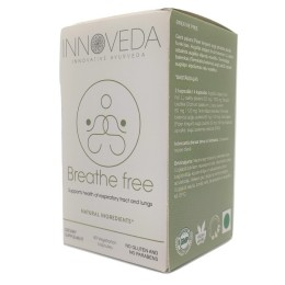 Breathe free 60 kaps. Innoveda oman Inula racemosa bazylia azjatycka Ocimum sanctum Terminalia belerica pieprz Piper longum