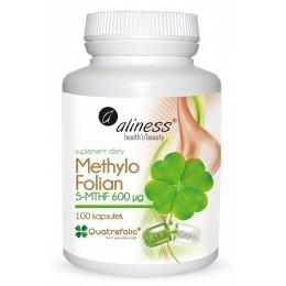 Methylo Folian 5-mthf 600 μg  100 caps VEGE Methylofolian witamina b9 kwas foliowy metylowany