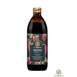 Naturalny sok z malin 500ml Herbal Monasterium