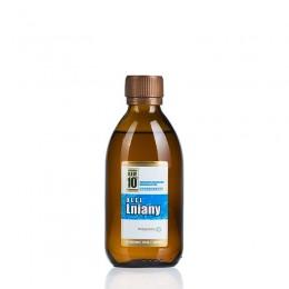 Olej lniany zimnotłoczony 250ml Olej lniany podstawa diety dr Budwig Olej lniany Nieoczyszczony olej lniany tłoczony na zimno