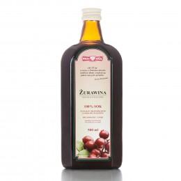 Żurawina sok 100% 500 ml Polska Róża