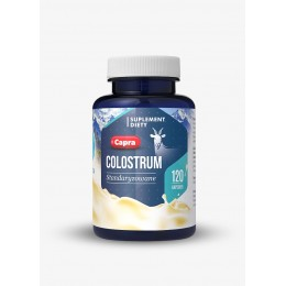 Colostrum Capra 500mg 120 kapsułek Hepatica Colostrum Kozie