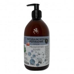 """Naturalne mydło potasowe """"Prawdziwe Szare"""" ze srebrem monojonowym w płynie 500 ml"""