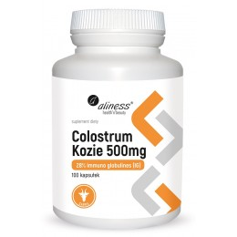 Colostrum kozie 500mg 28% immuno globulines 100 kaps. Aliness  aminokwasy egzogenne immunoglobuliny laktoferyna