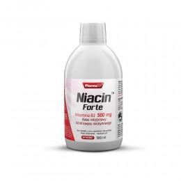 Niacin Forte 500 ml Witamina B3 500 mg Kwas nikotynowy Amid kwasu nikotynowego